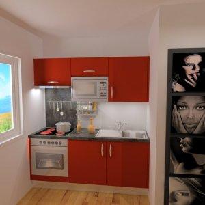 Projet 3D cuisine rouge