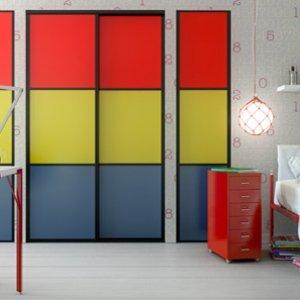 Placard coloré chambre